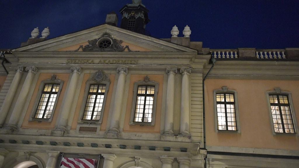Börshuset i Gamla Stan där Svenska Akademien håller sitt sedvanliga torsdagsmöte.