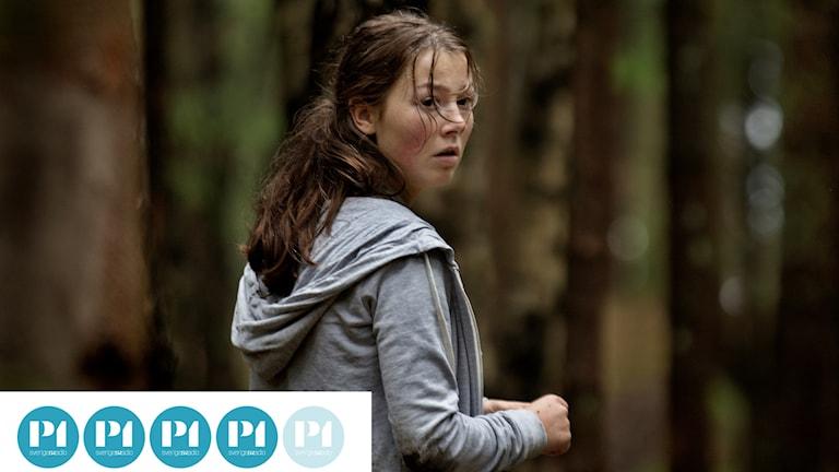 Huvudpersonen Kaja, spelad av duktiga Andrea Berntzen, i filmen Utøya 22 juli