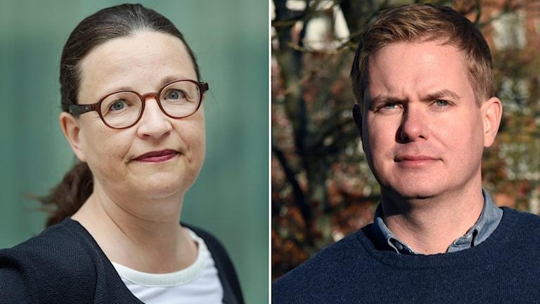 Anna Ekström och Gustav Fridolin