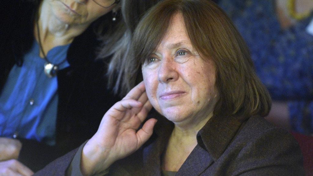 Svetlana Aleksijevitj från Belarus fick Nobelpriset i litteratur 2015.