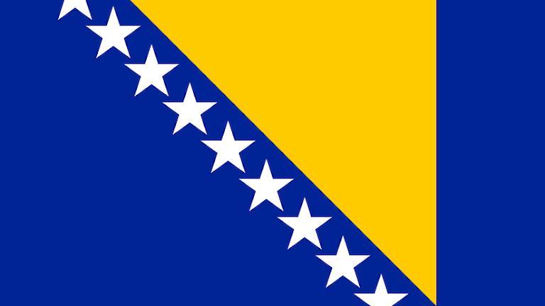 Bosnien & Hercegovinas flagga.