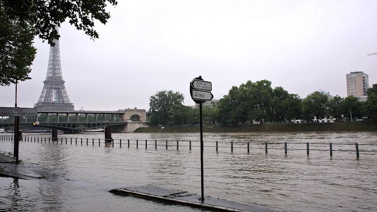 Översvämningar i Paris.