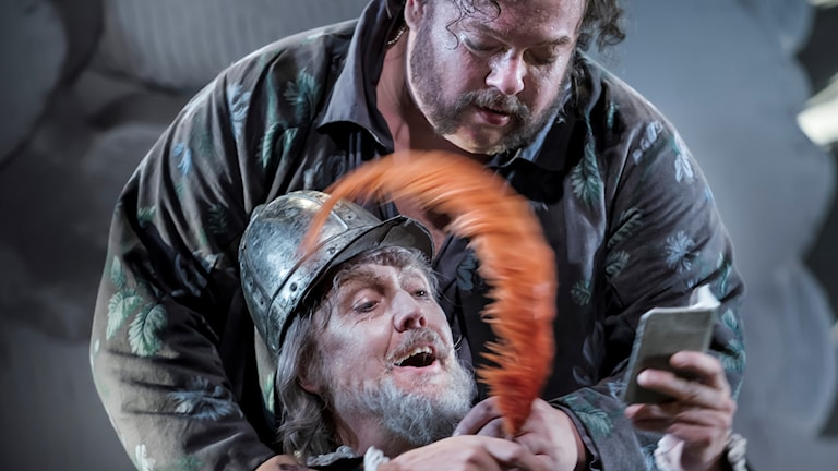 DON QUIJOTE: Marcus Jupither (Sancho Panza) och Lars Arvidson (Don Quijote).