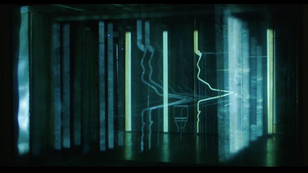 Ljudvågor: Stillbild ur video av Lawrence Abu Hamdan.