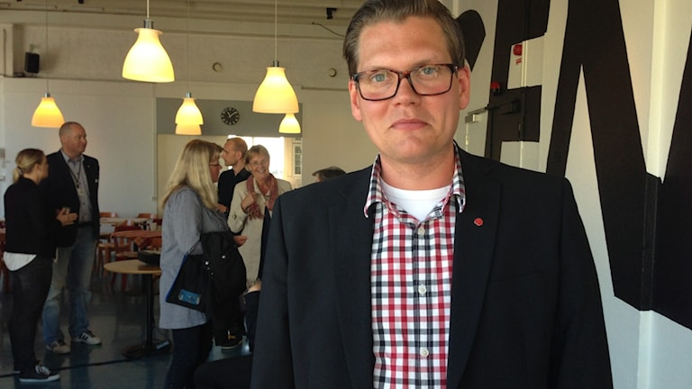 Jonas Hellberg (S), ordförande för Länsmuseernas samarbetsorganisation och Kalmar läns museum. Foto: Elin Ternander/Sveriges Radio