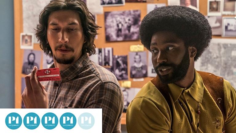 Adam Driver och John David Washington i Spike Lees film Blackkklansman
