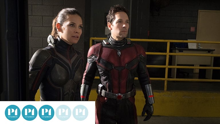 "Evangeline Lilly och Paul Rudd i filmen ""Ant-Man and the Wasp."""