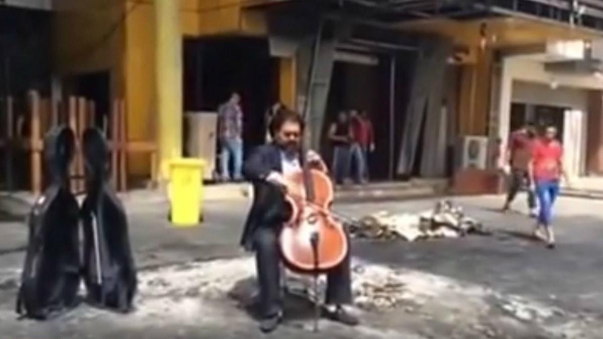 Karim Wasfi, skärmdump från videoklippet