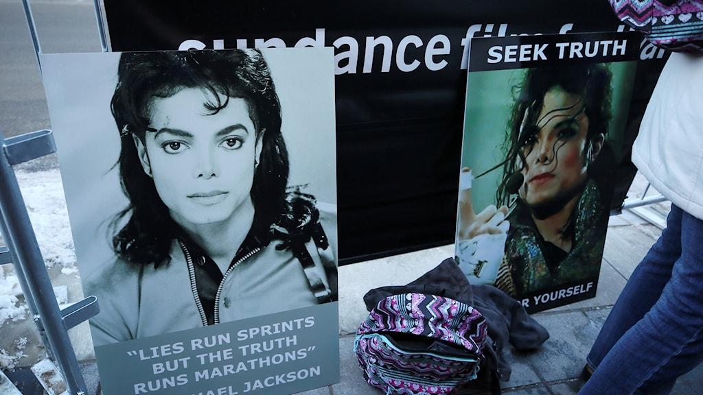 Protestplakat från MIchael Jackson-fans
