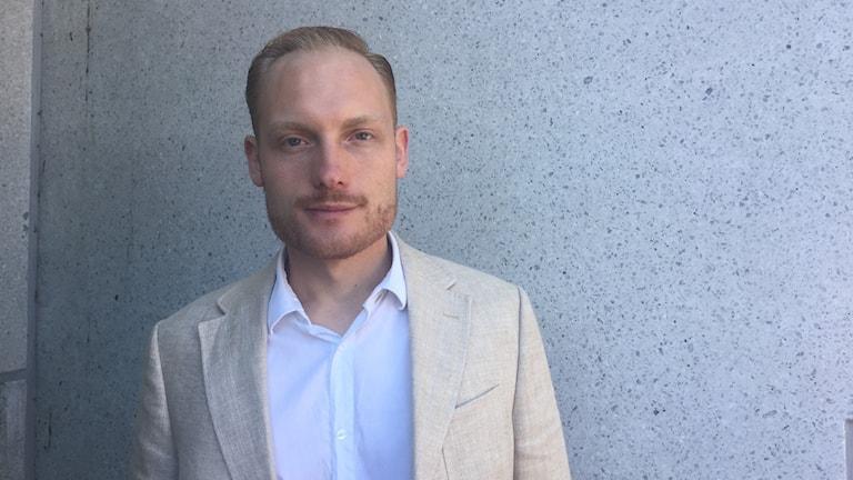Bilden föreställer Aron Emilsson, kulturtalesperson för Sverigedemokraterna.
