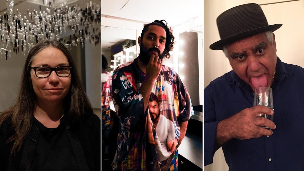 Konstnärerna Yhonnie Scarce, Ramesh Nithiyendran och Richard Bell är tongivande i scenen för samtidskonst i Australien.