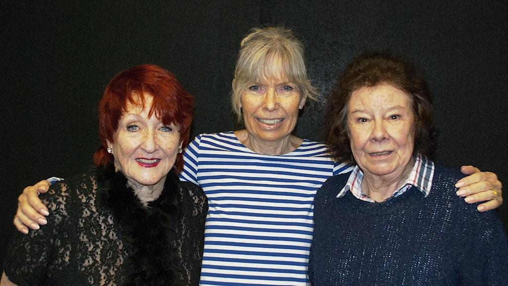 Årets Studiorävar i trion Dolls. Fr v Kerstin Dahl, Annica Risberg och Kerstin Bagge.