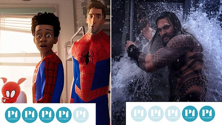 Spider-Man: Into the Spider-Verse och Aquaman.