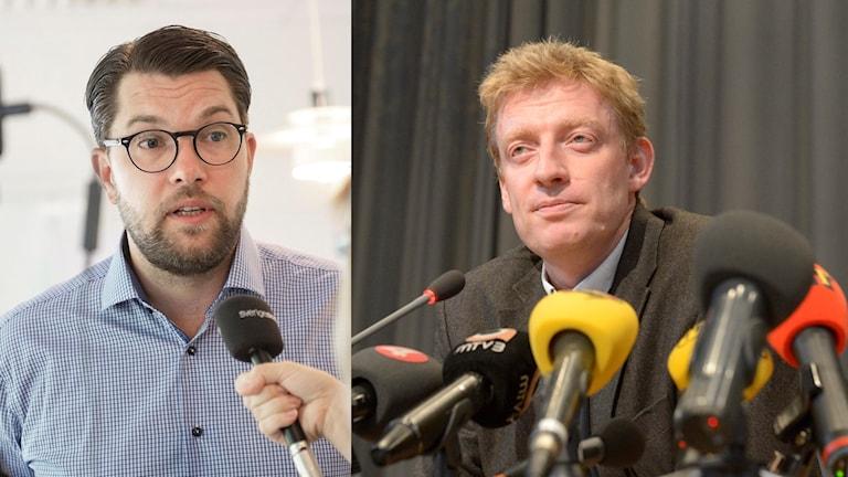 Jimmie Åkesson och Jesper Bengtsson.