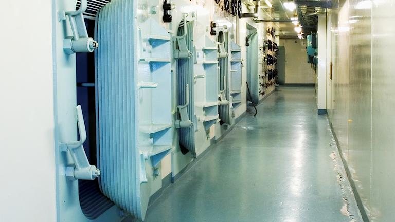 Strålskyddsdörrar i Ågesta kärnkraftverk