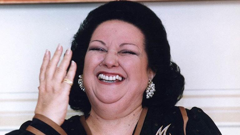 Den spanska operasångerskan Montserrat Caballé