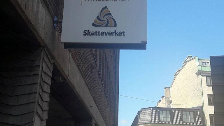 Skatteverkets skylt i Malmö.