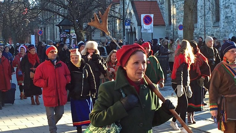 Samis from across Scandinavia gather in Trondheim to mark centenary celebrations of the first Sami Congress in 1917.