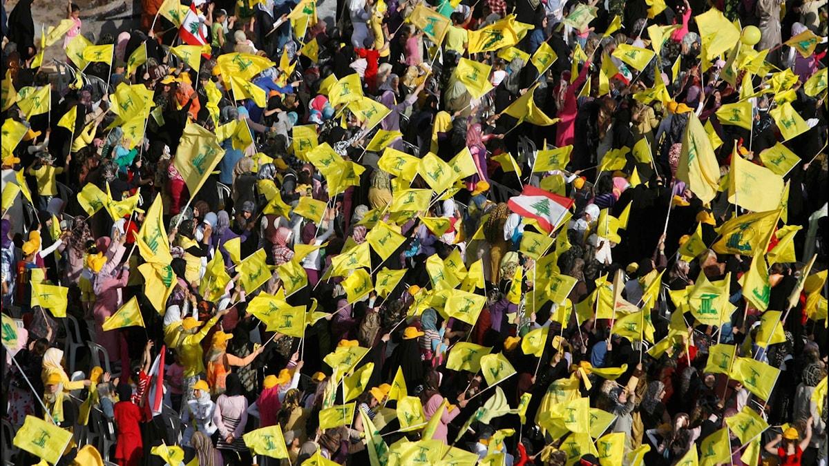 Hizbollah-anhängare i Libanon 2009.