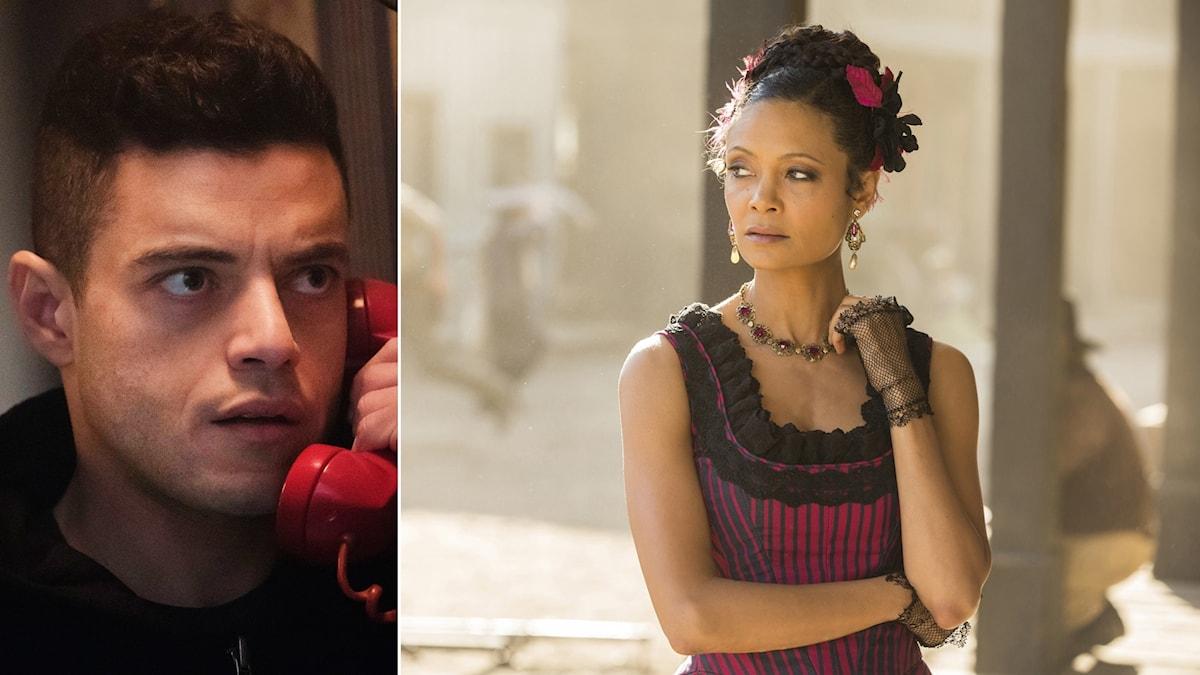 """Teorierna flockades kring tv-serierna """"Mr Robot"""" och """"Westworld""""."""