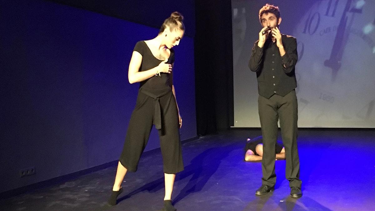 Silvia Arteta och Danilo Facelli på El Antic teatre i Barcelona.