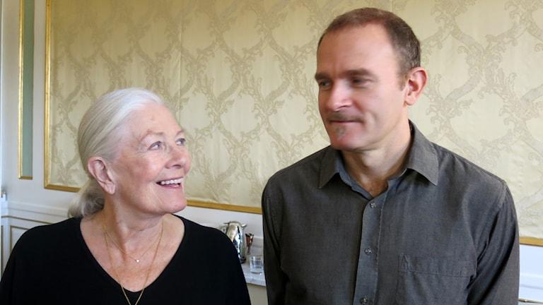 Vanessa Redgrave och Carlo Nero. Foto: Björn Jansson/Sveriges Radio.
