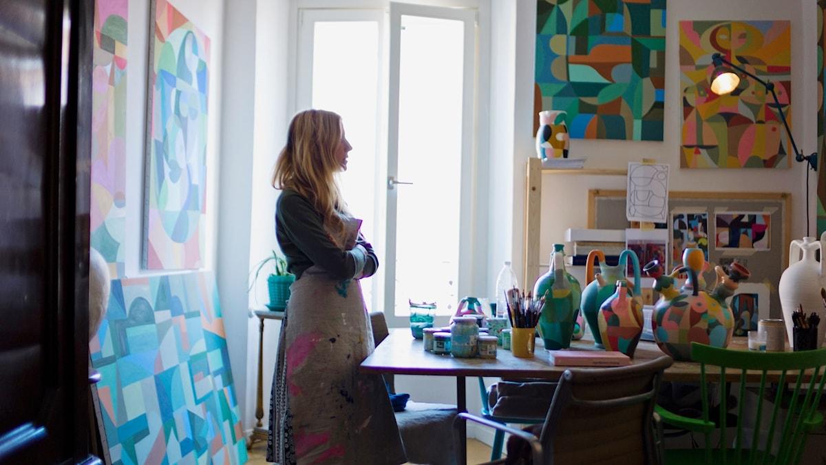 Illustratören och konstnären Liselotte Watkins möter Sigrid Hjertén
