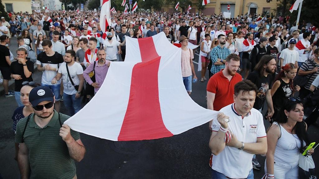 Journaister som bevakat otillåtna demonstrationer i Belarus åtalas för att ha deltagit i dem.