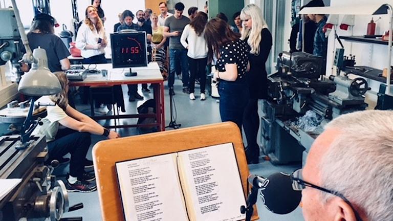 Dagens Dikt på designföretaget Zenit i Malmö