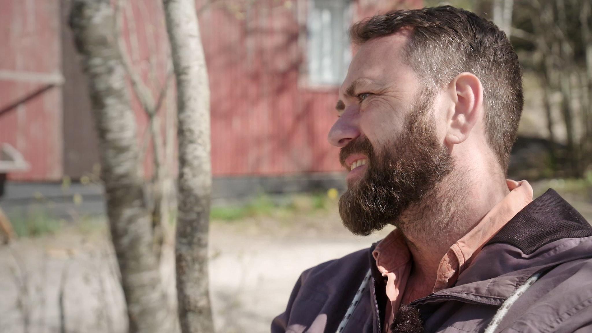 "Porträtt av regissören Jasper Lake som gjort SVT:s serie ""De utvalda barnen""."