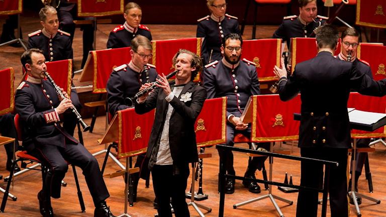 Vinnaren av Blåsmusikpriset 2019 Magnus Holmander. Foto: Christopher Hästbacka.