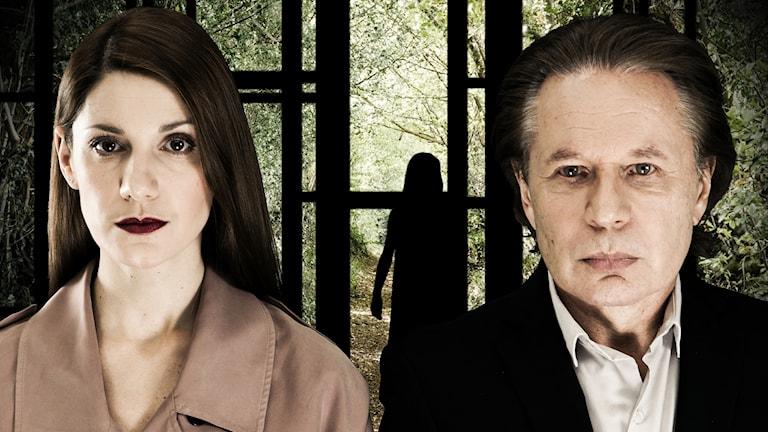 Nina Zanjani och Reine Brynolfsson som Morris och Papa.