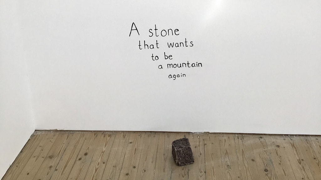 Maria Lindberg A stone that wants to be a mountain