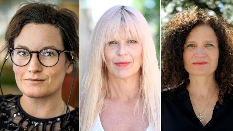 Agnes Lidbeck, Kajsa Grytt och Cecilia Davidsson.
