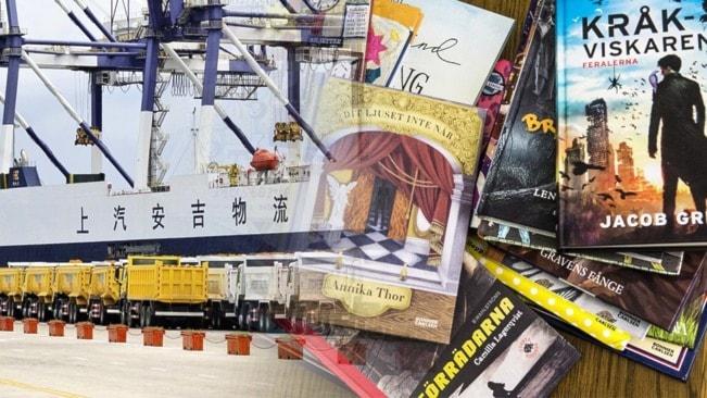 Fraktkostnader från Kina höjer priset på svenska barnböcker