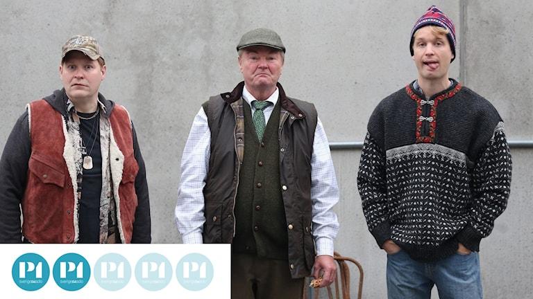 Henrik Dorsin, Peter Dalle och Björn Gustafsson i Lyrro
