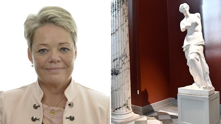 Moderaten Lotta Finstorp är kulturpolitisk talesperson.