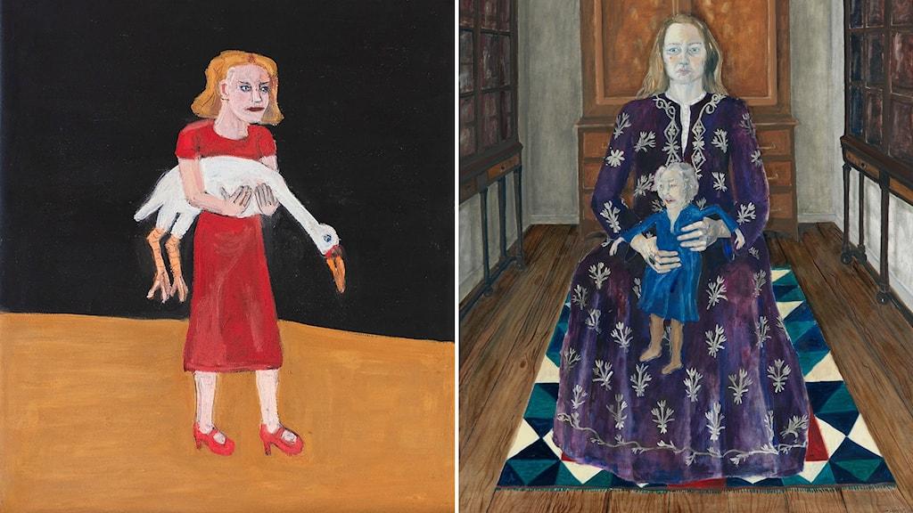 Flicka med svan (2018) och Modern (1975).