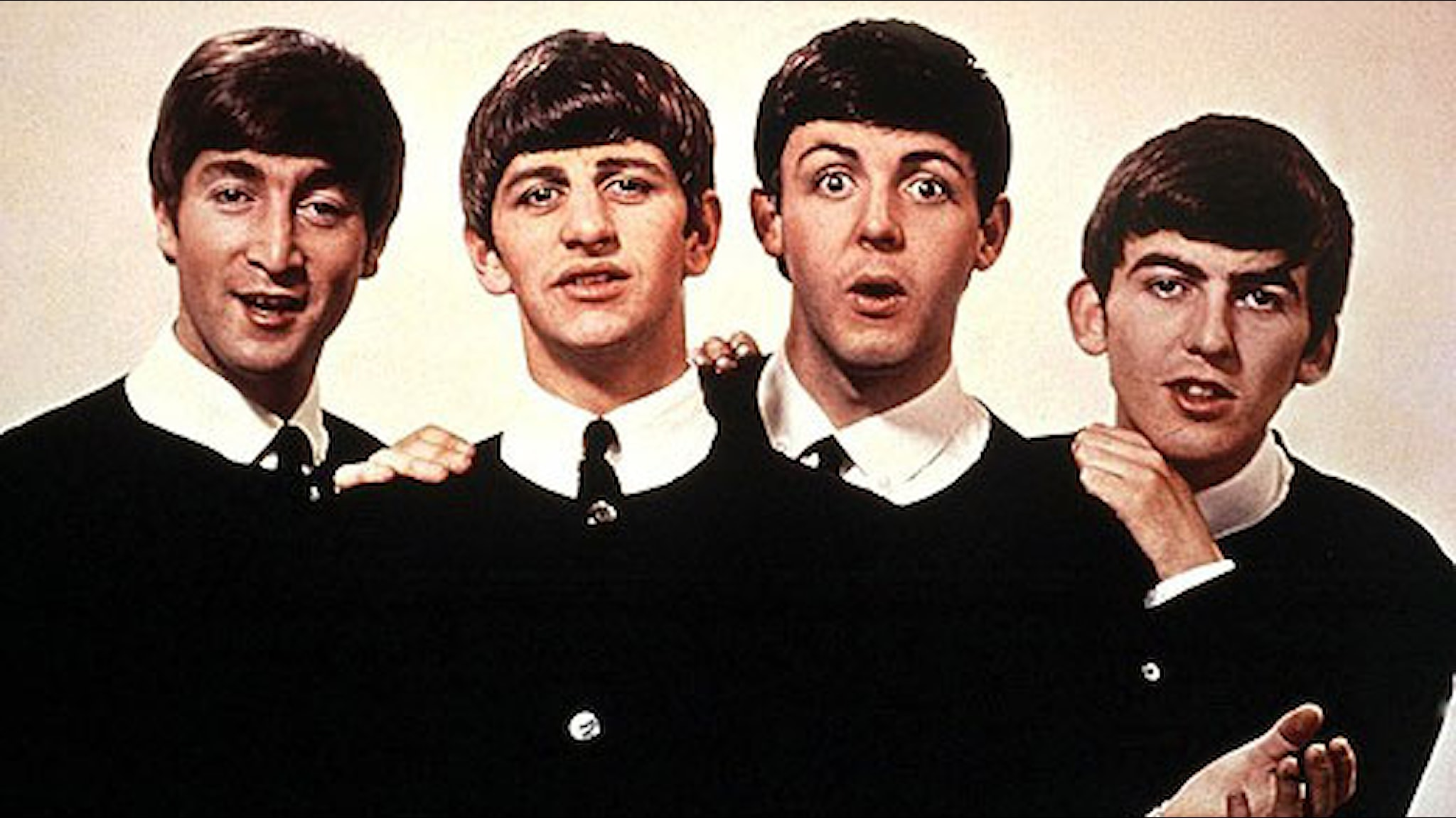 The Beatles 1963. Gruppmedlemmarna (fr.v.) John Lennon, Ringo Starr, Paul McCartney och George Harrisson. Foto: Scanpix