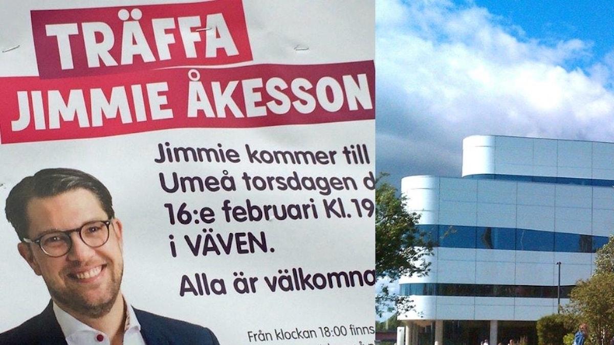 Jimmie Åkesson och kulturhuset väven