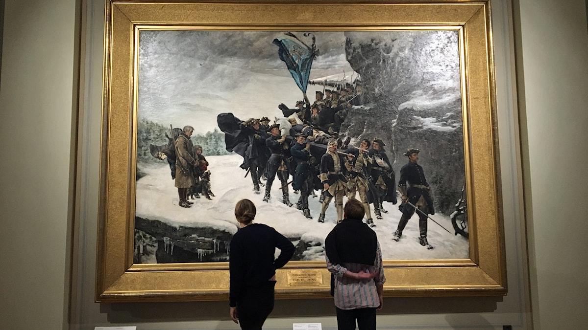 """""""Karl XII:s likfärd"""" av Gustaf Cederström (1845-1933) på Nationalmuseum"""