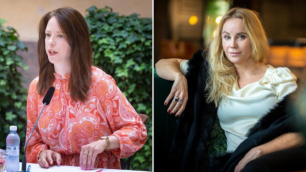 Åsa Lindhagen (Mp) och skådespelaren Sofia Helin