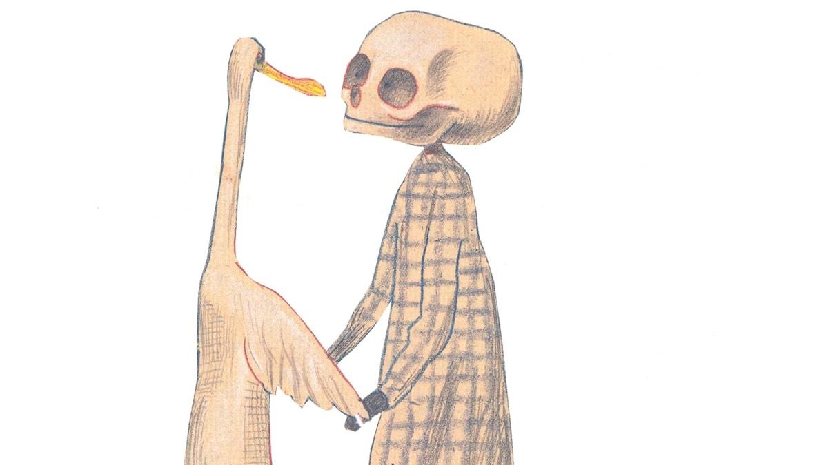 Bild ur boken Anden, döden och tulpanen (Ente, Tod und Tule)
