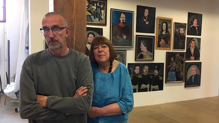 Mats Wikström och Birgitta Lindström som producerat Där kärlek är, Havremagasinet, Boden.