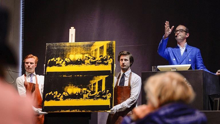 """Andy Warhols målning """"The Last Supper"""" På auktion i Stockholm"""