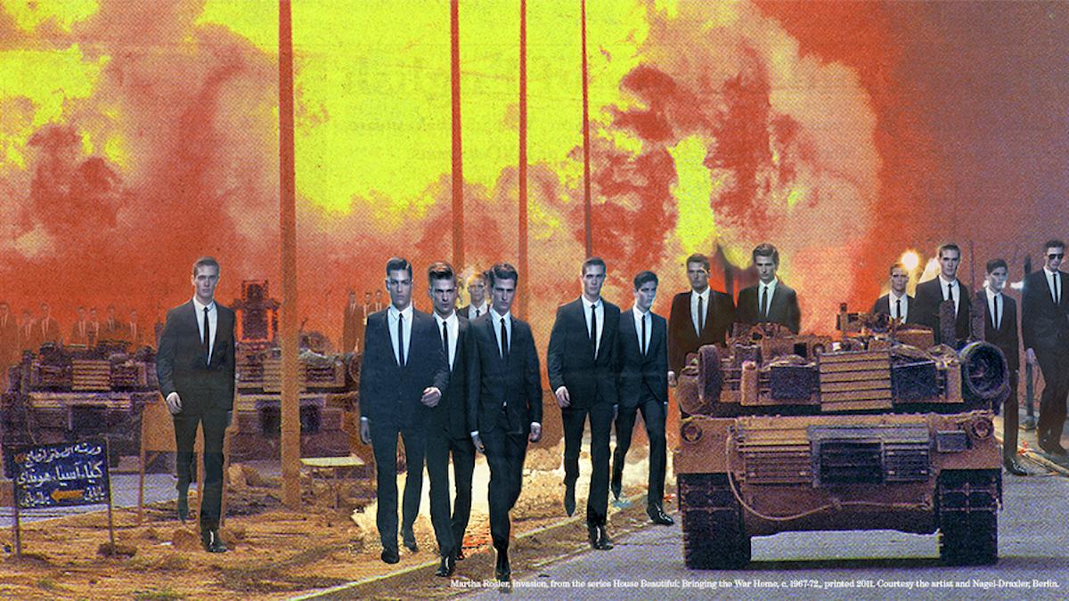 Martha Rosler, Invasion, från serien House Beautiful: Bringing the War Home, New Series, 2008, fotomontage.