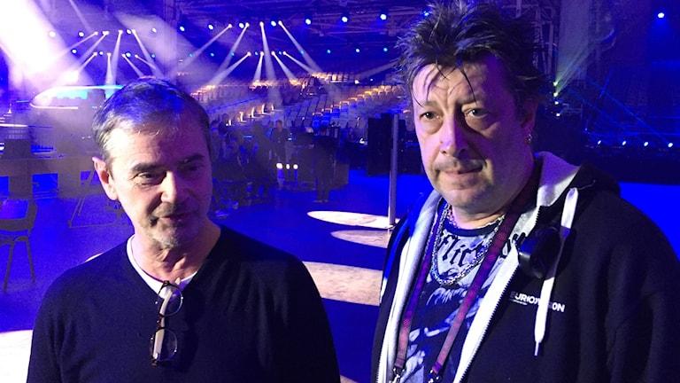 Christer Björkman och Ola Melzig leder arbetet med att få allting klart till Eurovisionsfinalen i maj.