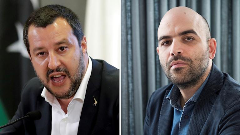 Salvini och SavianoItaliens inrikesminister Matteo Salvini och författaren Roberto Saviano.