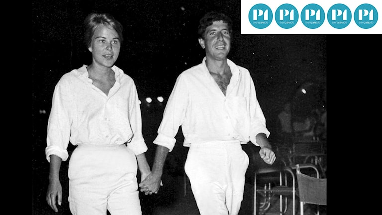 "Leonard Cohen och Marianne Ihlen i en scen från dokumentären ""Marianne & Leonard: Words of Love""."