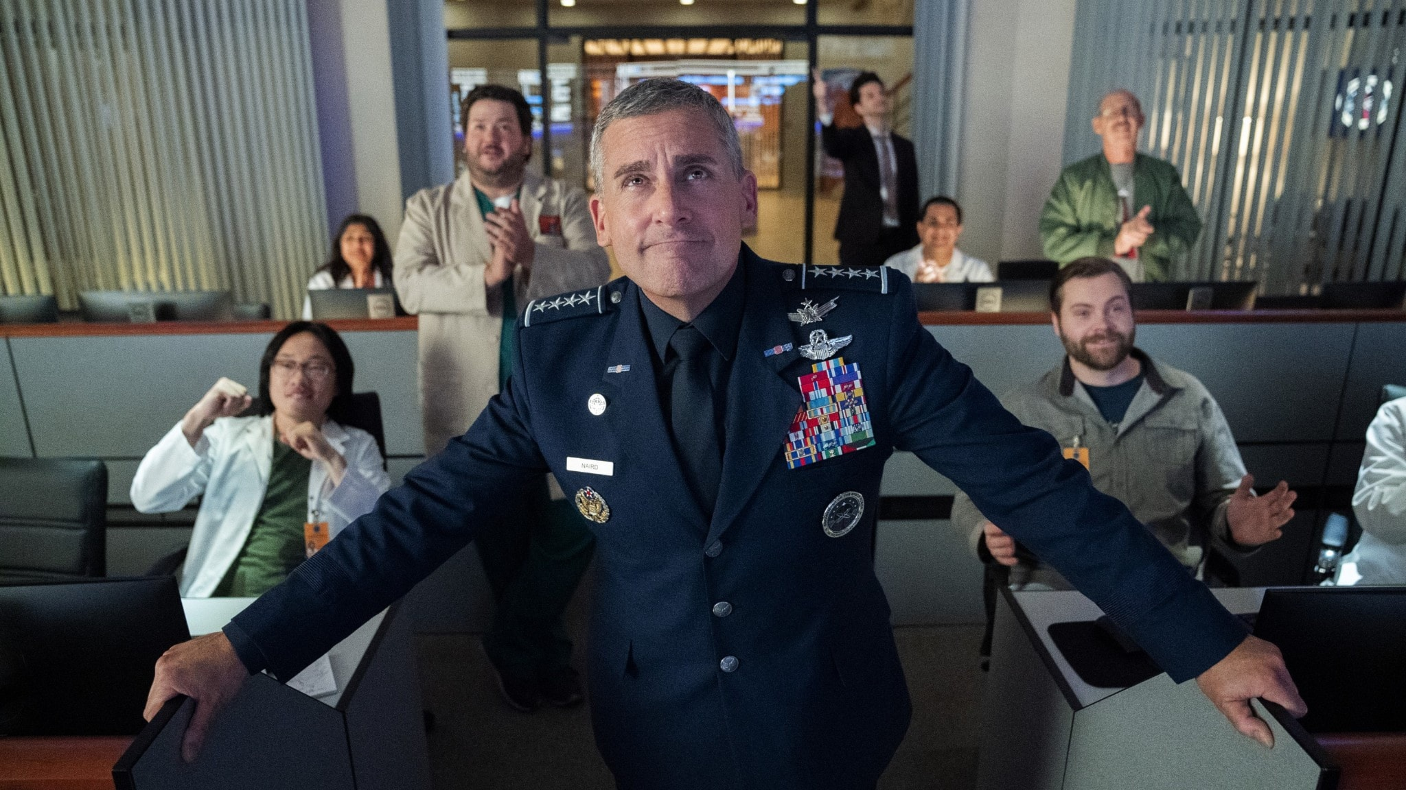 Steve Carell i TV-serien Space force.